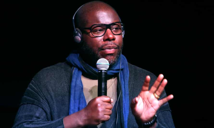Steve McQueen speaking about his Small Axe series at the Rome Film Festival in October.