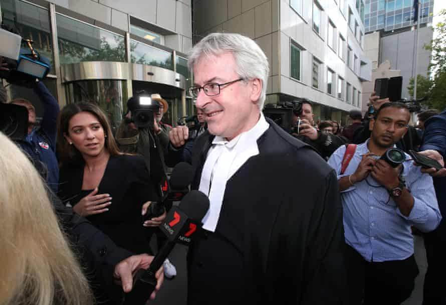 Crown prosecutor Mark Gibson SC speaks to the media after chief judge Peter Kidd handed down his sentence for Cardinal George Pell