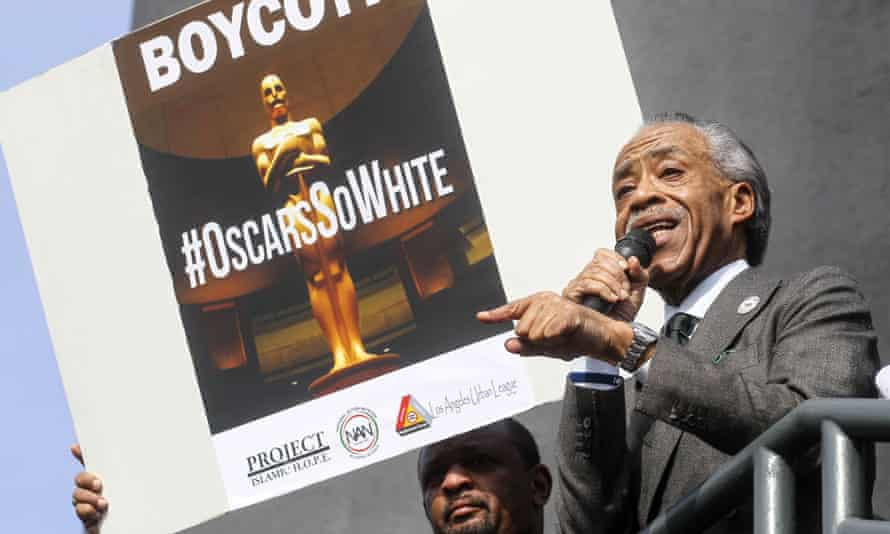 Rev Al Sharpton speaks at a rally last year to protest against the lack of diversity in Oscar awards.