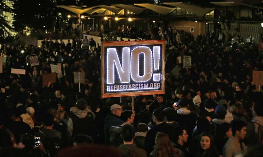 Protesters at the University of California, Berkeley, condemn a planned event featuring Milo Yiannopoulos.
