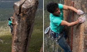 David Tan climbs Slap Dancer route on Albert's Tomb