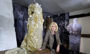 Joanna Lumley unveils a display of costumes from the 1882 production of Shakespeare's 'Much Ado About Nothing, which Terry starred in, at Barn Theatre at Smallhythe Place in Kent.