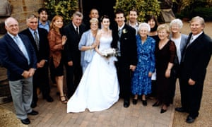 Paul Russell on his wedding day in 2003, holding the hand of his grandmother Gladys.