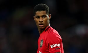 Marcus Rashford put Manchester United into the lead against Liverpool.