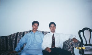 Adnan Syed, 16, sits with his brother, Tanveer, 21, shortly before he was sent to prison