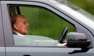 Prince Philip at the wheel