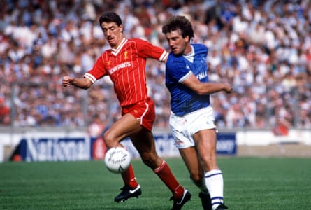 Ian Rush and Kevin Ratcliffe in action in 1984.