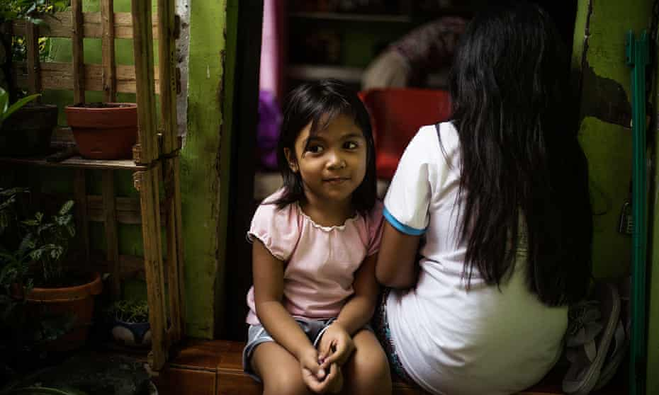 5-year-old Shantal lives less than 100 meters from a plastics recycling plant in Canumay West village in Valenzuela City.