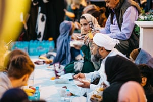 Food was provided free of charge to all attendees from homes, kitchens and restaurants across the city.