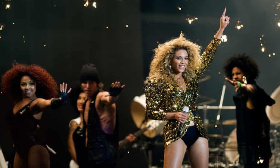 Beyoncé headlines the Pyramid Stage at Glastonbury.