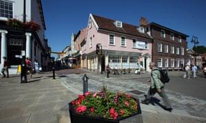 Bury St Edmunds, town centre