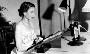 Queen's speech in black and white during the 50s