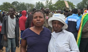Clara Nkata (left): 'We are here to fight Mugabe.'
