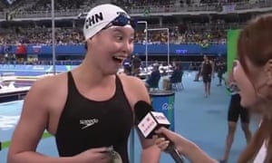 Chinese Olympian and bronze medallist Fu Yuanhui gave an animated interview after her swim that propelled her into the hearts of her compatriots.
