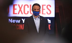 Photo by Michael M. Santiago. New York Governor Cuomo Holds COVID-19 Vaccination Update Event On Long Island