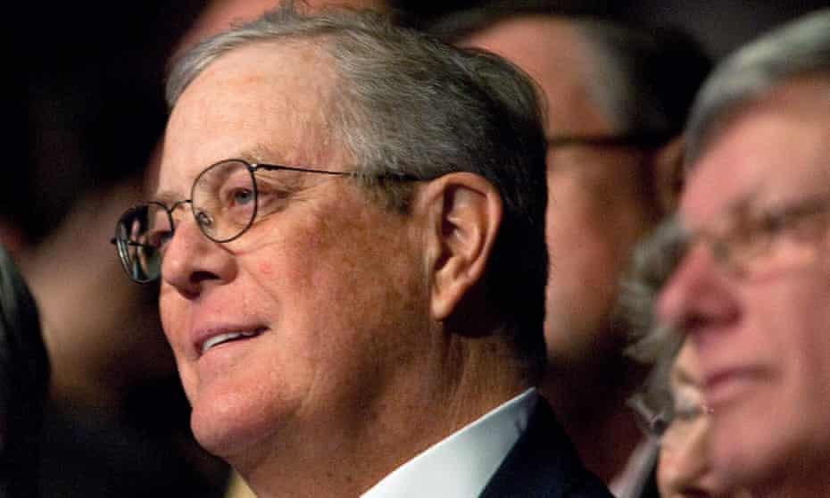 David Koch in Washington DC, on 4 November 2011.