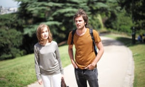 Uncertain path ... Isabelle Huppert and Roman Kalinka in Things to Come