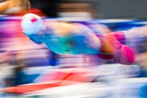 China's Shun Wang during the men's 200m individual swimming medley heats.