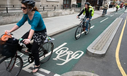 """'In his first interview as transport secretary, Chris Grayling spoke of cyclists only to complain about those who jump red lights and to say bike lanes cause problems for """"road users"""", a group that apparently doesn't include people on bikes.'"""