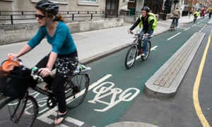 Sadiq Khan said he wanted to see 'more segregated cycle lanes' and 'new routes'.