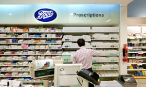 A pharmacist working at Boots