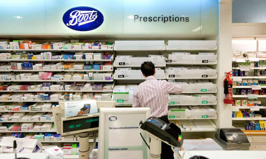 Boots the Chemist, pharmacy counter