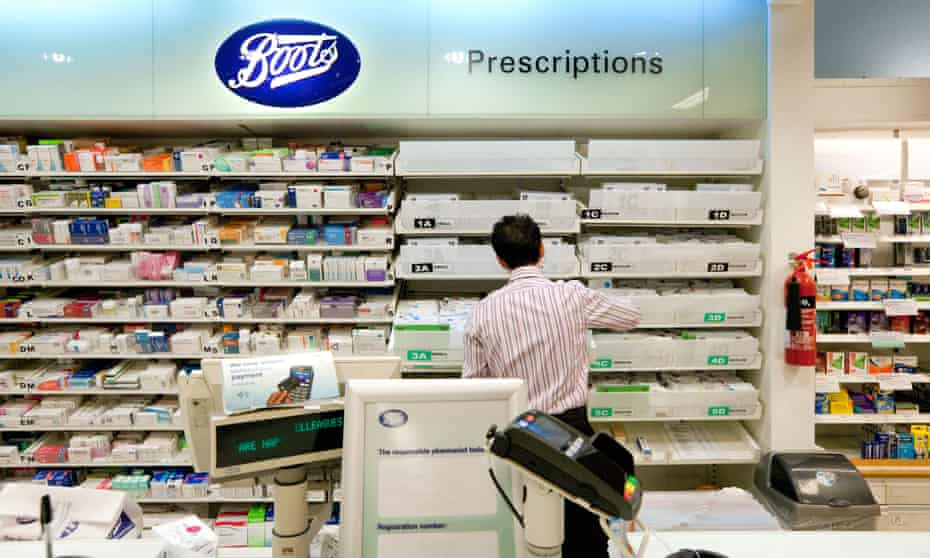 A pharmacist in Boots