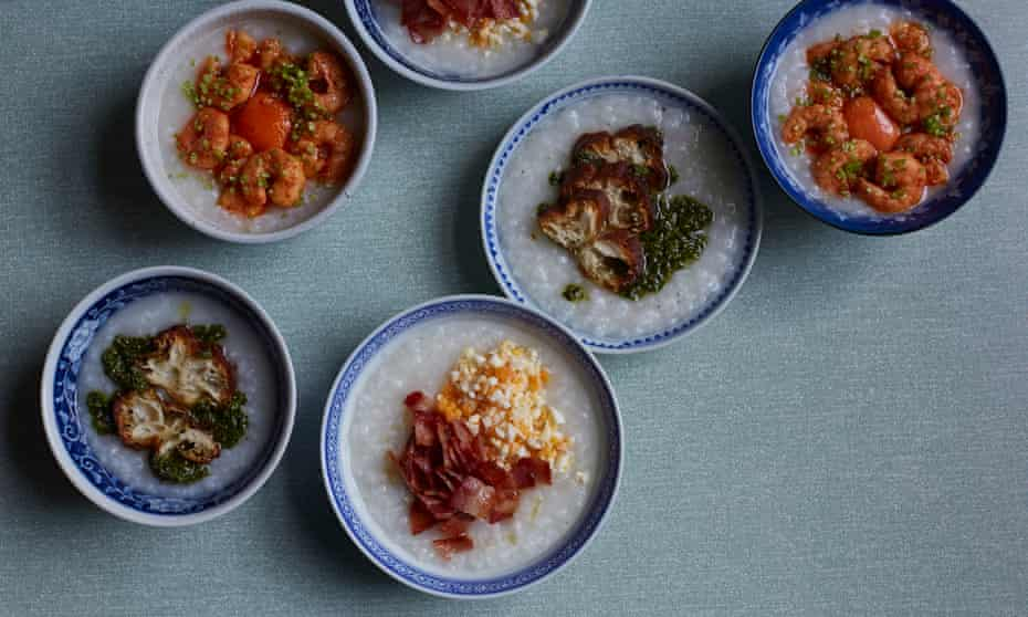 Tata eatery's recipes for a quick-fix congee, asian green sauce and prawn congee