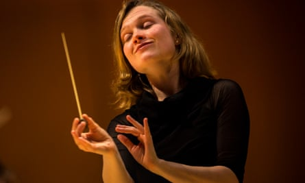 Mirga Gražinytè-Tyla, associate conductor of the Los Angeles Philharmonic, performs with the Phil at Walt Disney Concert Hall in downtown Los Angeles, CA, December 9, 2015.