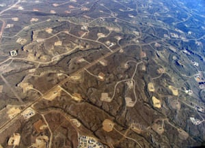 Jonah Field gasfields in Wyoming, US.