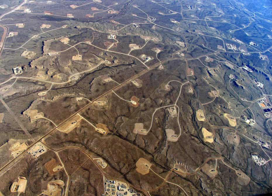 Jonah Field gasfields in Wyoming, US.