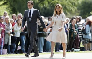 Roger Federer and his wife Mirka arrive at the church.