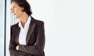 Contemplative businesswoman