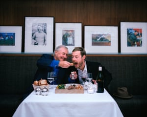 Terence Conran photographed with his son photographed in London for The Observer Food Monthly in 2004.