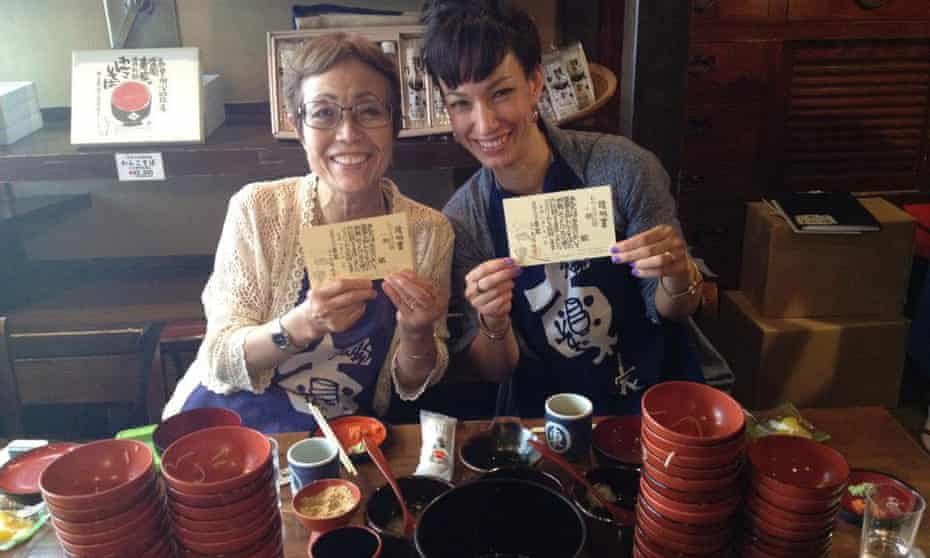 Marie Matsuki Mockett, right, and her mother in Morioka, Iwate Prefecture, Japan.