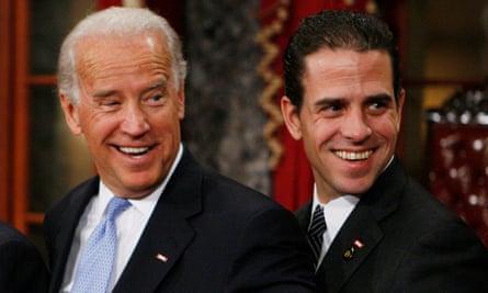 Joe Biden with his son Hunter in 2009.