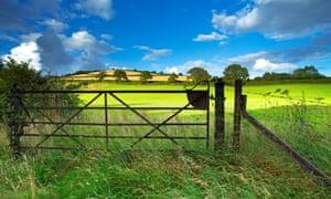 Old railway gate, Exe valley, Devon, England