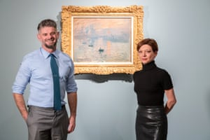 Nick Mitzevich, director of the National Gallery of Australia and Marianne Mathieu from the Musée Marmottan Monet