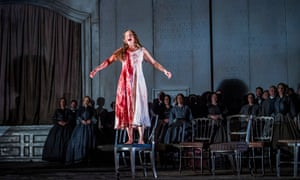 Darkly expressive … Sarah Tynan in Lucia di Lammermoor.