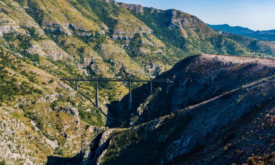 The Mala Rijeka viaduct, Serbia