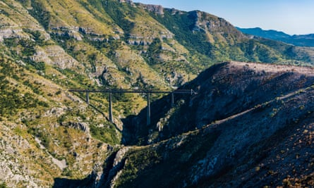 The Mala Rijeka viaduct, Serbia