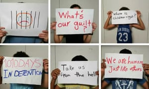 children protesting on Nauru
