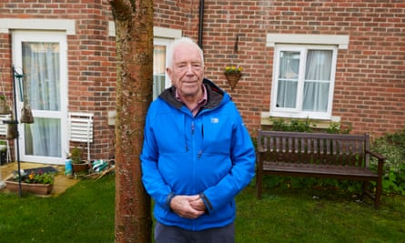 Peter Williamson, 87, who has been unable to visit his wife Valerie because of coronavirus restrictions since she was taken into a care home in June.