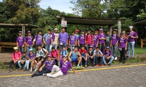 Teenage boys involved in the 'champions of change' programme about gender in Nicaragua.