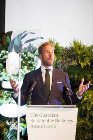 Ben Fogle giving a speech