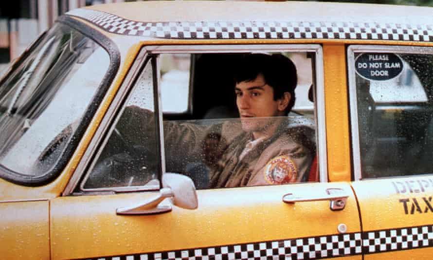 Robert De Niro as Travis Bickle in Taxi driver.