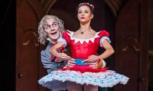 Mildly creepy, mostly comical ... Francesca Hayward as Swanilda and Gary Avis as Dr Coppélius in Coppélia.