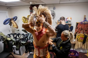 Nick Afoa getting into Simba costume