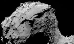 Rosetta's Osiris wide-angle camera captured this image of Comet 67P/Churyumov-Gerasimenko from about 15.5 km above the surface