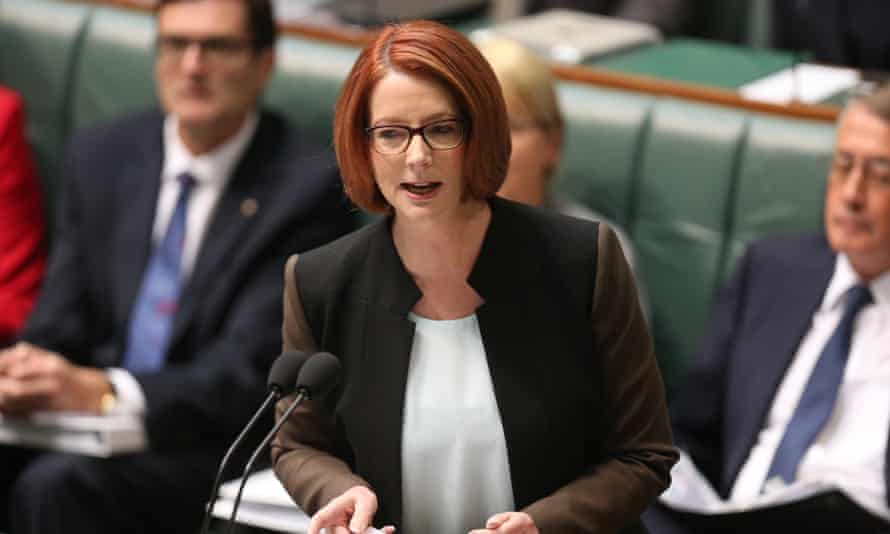 Prime minister Julia Gillard during question time in June 2013.